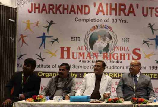 DR. M. U. DUA PRESIDENT 'AIHRA' IN JHARKHAND PROGRAMME